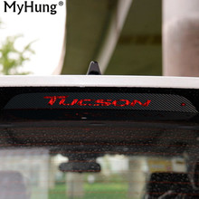 For Hyundai New Tucson 2015 2016 Carbon Fiber Rear Braking Light Decoration Cover Stickers Case Car Accessories Waterproof(China)