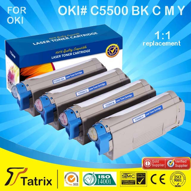 Black C5500 toner cartridge compatible for OKI C5500 printer ,C5500 Toner For OKI ,With 1 Year Warranty<br><br>Aliexpress