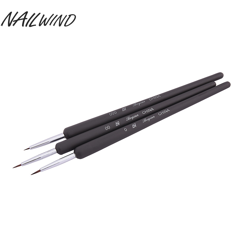 Nailwind 3PCS Dotting Painting Drawing UV Gel Liner Polish Tool Nail Art Pen Painting Drawing Nail Art Manicure Tool(China)