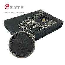 Quantum Energy Pendants with Negative Ions 3000CC Scalar Energy Charms with 314L Stainless Steel Chain Black Lava Stone Health