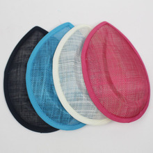3pcs/Lot 19.5CM Four Colors Waterdrop Millinery Hat Base Handmade  DIY Fascinator Sinamay Base  DIY Hat Hair Accessories
