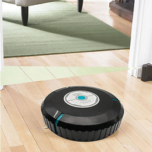9 inch Home Robotic Smart Auto Cleaner Robot Microfiber Mop Dust Cleaning Black