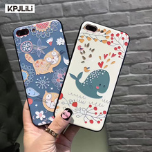 Real 3D Relief Case for Apple iPhone 8 Plus X 6 6S Plus 6S 7 Plus 7Plus Cute Cartoon Luxury Silicone Full Fit Cover for iPhone8(China)