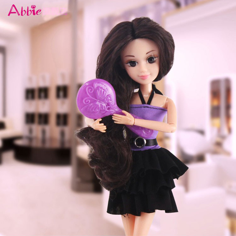 ABBIE Toys Hairdryer Girls Beauty Salon Fashion With ABBIE Doll Play Set Include Clothes Comb Set Toy Educational Doll Gift<br><br>Aliexpress