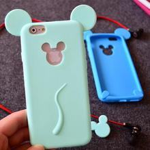 5S Soft Silicone Mickey Phone Case adorable Cartoon tpu Mobile Cover for iPhone 5S 5 SE Cute Girly Stylish Cellphone Funda SE 5S(China)