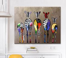 Zebra Pop Art Oil paintings canvas Hand painted Andy Warhol Wall Art   Animals   Home Decoracion For Living Room