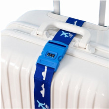 Cartoon Password Luggage Strap Students Adjustable Security Trolley Suitcase Belt Bag Parts Aircraft Travel Accessories Supplies