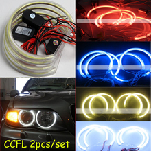 2pcs/set,CCFL angel eyes,COB,White blue red green purple yelow,E30 E32 E34;E36,E39,E46,E87,E53 X5,E83,Z3,Jazz Fit,Mark-X,G35,M35