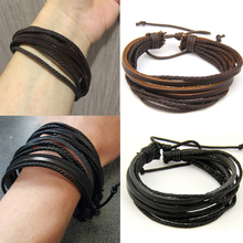 2017 NEW Handmade Endless Rope Leather Bracelet Vintage Love Heart Charm Wristband Bracelets bracelets & bangles For Women