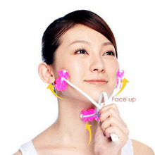Slim Face Roller Tool Face Up Roller Facial Massage Slimming Remove Chin Cheek Neck V Face Massager 2 in 1 Tools(China)