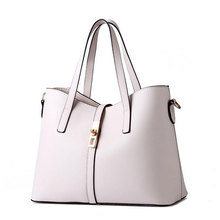 BARHEE Necessaire Women Leather Handbag Ladies Office Tote Bag Messenger Shoulder Bag Lock Violets ladies hand bags bolsas