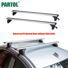 Partol Universal 120CM Adjustable Car Roof Rack Cross Bars Crossbars with Anti-theft Lock 68kg 150LBS Cargo Luggage Snowboard(China)