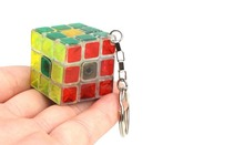 30mm Classic Magic Toys Cube Key Chain 3x3x3 Block Puzzle Speed Cube Colorful Learning&Educational Puzzle Cubo Magico Gift Rubik(China)