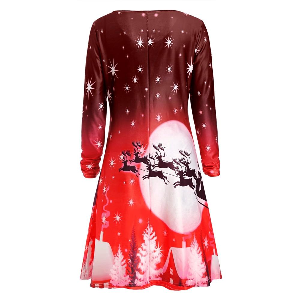 Detail Feedback Questions about Wipalo Women Christmas Deer Print ... 08899d1d3ff3