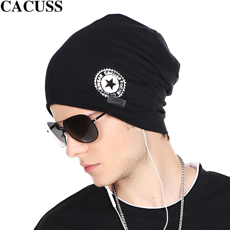 Cacuss Men Thin Hip-hop Cap Cotton turtleneck Hat Beanie Scarf Hat Female Elastic Hat High Quality Sport Cap Solid Turban CapОдежда и ак�е��уары<br><br><br>Aliexpress