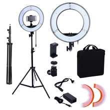 Photo Studio lighting 180PCS LED Ring Light 5500K Camera Phone Lighting Photography Dimmable Ring Lamp With 200CM Photo Tripod(China)