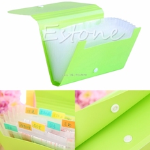 Plastic Candy Color Document Bag File Folder Expanding Wallet Bill Folder Small Size 17.8*12*2.5cm #ROF616#
