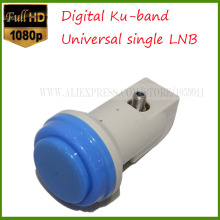 digital ku band universal single lnb hight gain hd digital ku band lnb universal waterproof ku band single lnb satellite tv(China)