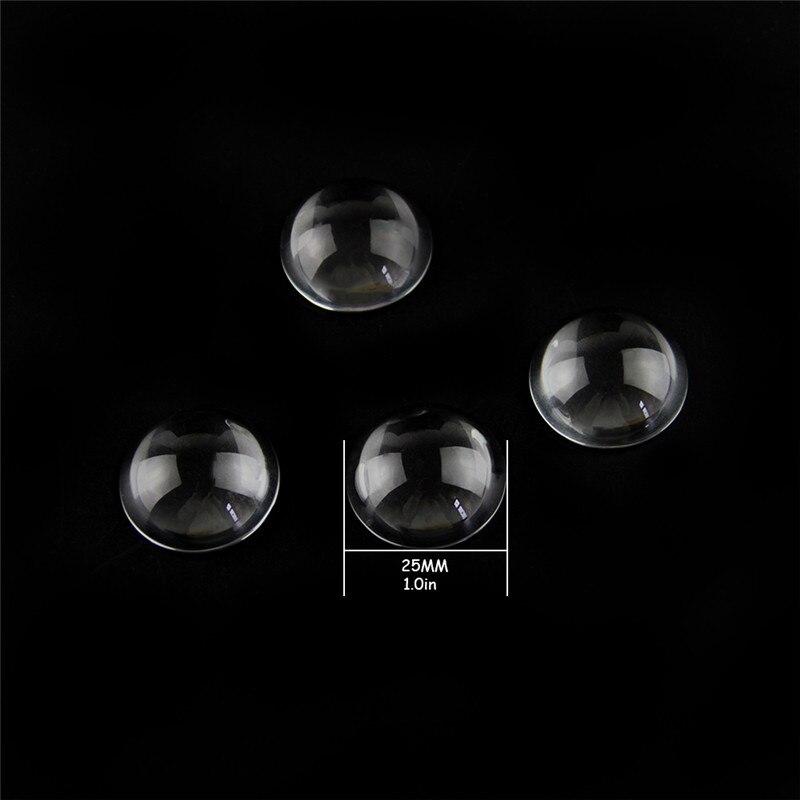 1//2x 80mm K9 Klarglas Kugel Vintage Briefbeschwerer Halbkugel Kristall Lupe