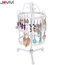 JOVIVI 72 Holes Earring Bracelet Necklace Display Jewelry Holder Metal Show Rack Hanger Rotate Jewelry Rack Nice Gifts For Women