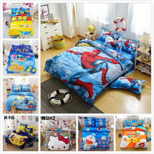 Cartoon anime little yellow spider cliff cute children room 4pcs/3pcs bedspreads home textiles bedding Soft Polyester cotton