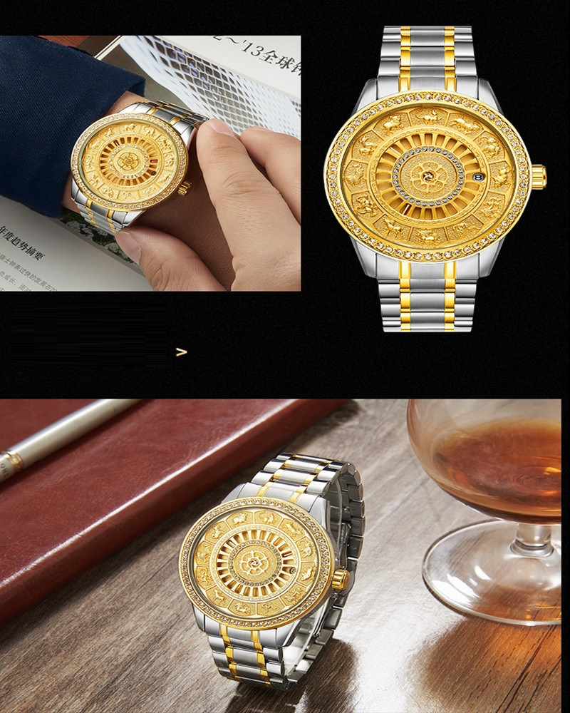 02018 New TEVISE Zodiac Signs Men Watch Automatic Mechanical Wristwatches Limited Edition Watch Men Gold Male Clock saat erkekler (16)