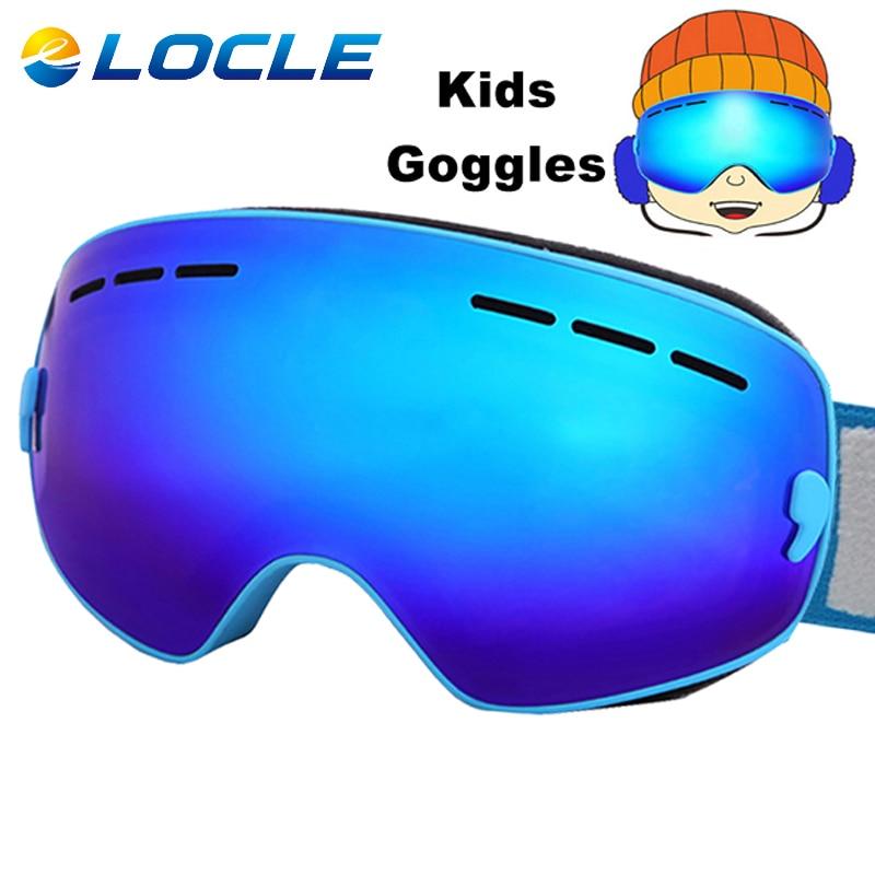 LOCLE Ski Goggles Anti-fog Spherica Ski Glasses UV400 Ski Snowboard Snow Motocross Goggles Ski Eyewear 4-16Y<br><br>Aliexpress