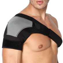 Adjustable Right Left Single Shoulder Support Brace Black Posture Corrector Therapy Muscle Strain Arthritis Gym Sports Bandage