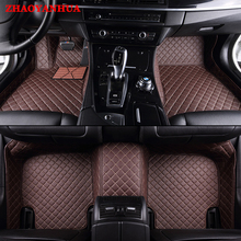 ZHAOYANHUA Custom fit car floor mats for Ford Fiesta Mk7 Edge Escape Kuga Fusion Mondeo Ecosport Explorer Focus 5D rugs liners(China)