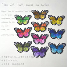 Delicate butterfly embroidery cloth paste gum decals are embroidered patch embroidered full hole filling paste