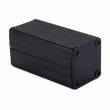 1pc New Extruded Aluminum Enclosure Case Black DIY Electronic Project Box Power Supply Units 50x25x25mm(China)