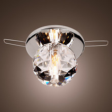K9 Crystal Ball LED Modern ceiling Light Lamp Lustre Flush Mount Free Shipping