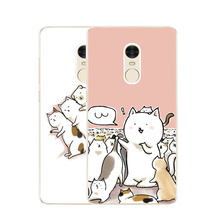 Xiaomi redmi note 4x Case,Silicon Bubble Cat Painting Soft TPU Back Cover for Xiaomi redmi note4x Phone Protect Case shell(China)