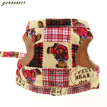 5 colors Popular Dog Fashion Harness Canvas Dog Puppy Vest Type Traction Rope Pet Leash Walking Tool S M L Fashion