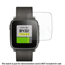 6x Clear LCD Screen Protector Guard Cover Shield Anti-Scratch Film Skin for Pebble Time Steel Smart Watch Accessories