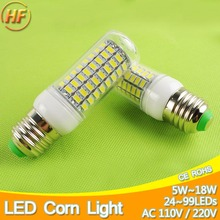 5W~18W LED Bulb E27 E14 LED Lamp Corn Bulb Light 7W 9W 12W 15W LED Lampara Bombilla Lampe Lampa Lampada led 127v 240v 220V 110V