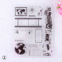 Artistic Graffiti Flower Scrapbooking Decoration Transparent Clear Rubber Stamp Seal for Paper Craft #230707