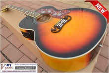 New! Sunset colors, spruce wood top, custom j200 vs Acoustic Guitar in stock Free shipping