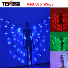 New arrived RGB LED wings Costume/ LED Dance Performance / LED Bdancing Wings DJ Wing Girls Dance Costumes Light Up Wings