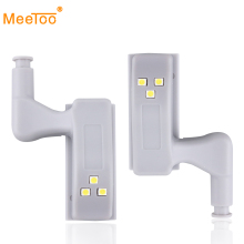 6pcs Inner Hinge LED Sensor Light Lamp System Mini Size Kitchen Bedroom Cabinet Cupboard light Closet Wardrobe automatic on/off