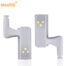 6pcs Inner Hinge LED Sensor Light Lamp System Mini Size Kitchen Bedroom Cabinet Cupboard light Closet Wardrobe automatic on/off(China)