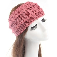 Ladies Knitted Knitted Bow Winter Hair Band Headband Headdress Hair Accessories New(China)