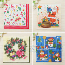 400pcs Personalized Napkins Merry Christmas Custom Printed Beverage Cocktail Luncheon Guest Towels Dinner Paper Napkins(China)