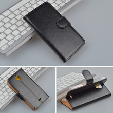 Crazy Horse Flip Leather Case For Explay Vega Wallet Case With Stand and Card Holder 4 Colors in Stock