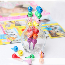 1PCS 2017 NEW Details about New 7 Colors Cute Stacker Swap Smile Face Crayons Children Drawing Gift(China)