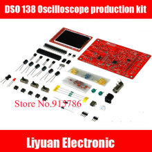 New version DSO 138 Oscilloscope production kit / electronic training instruments / color TFT screen STM32 oscilloscope