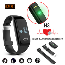 New H3 Smart Band Bracelet & Heart Rate Monitor Activity Fitness Tracker Wristband for IOS & Android Smartphone