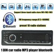 12V Car Stereo FM Radio MP3 Audio Player built in Bluetooth Phone with USB SD Car radio bluetooth In-Dash 1 DIN free shipping(China)