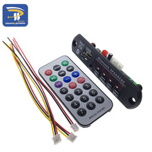 1Set 7-12V Car Bluetooth MP3 Decoder Board Decoding Player Module Support FM Radio USB/TF LCD Screen Remote Controller(China)
