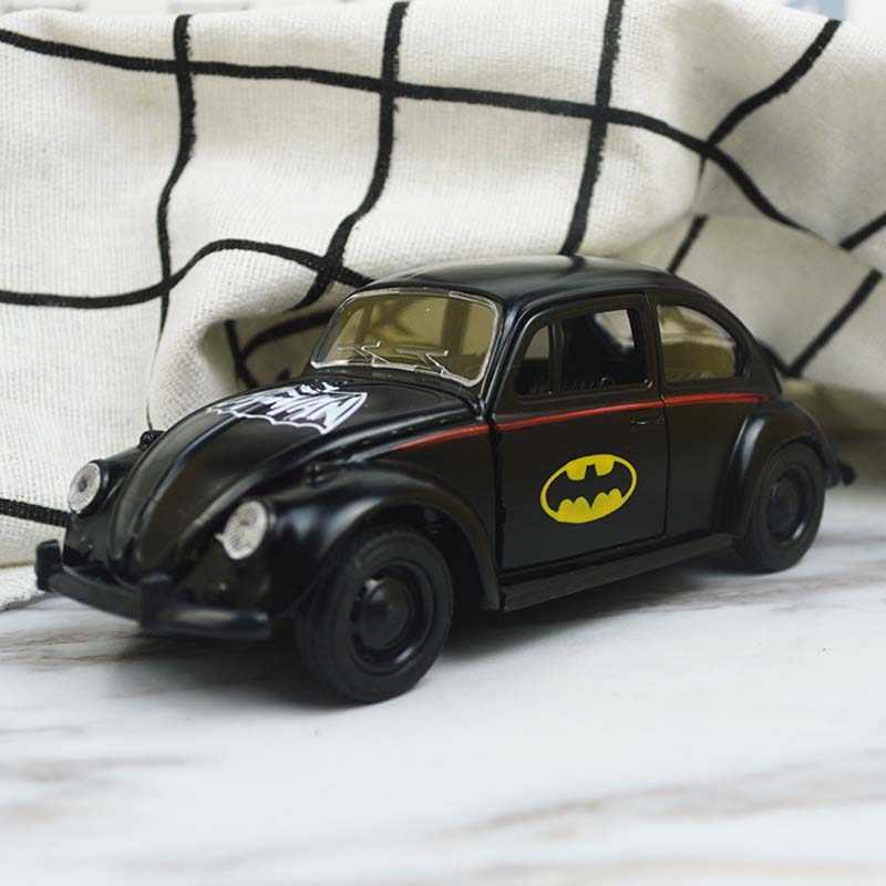1:32 Batman Design Beetle Die Cast Modellauto Schwarz Spielzeug Pull Back